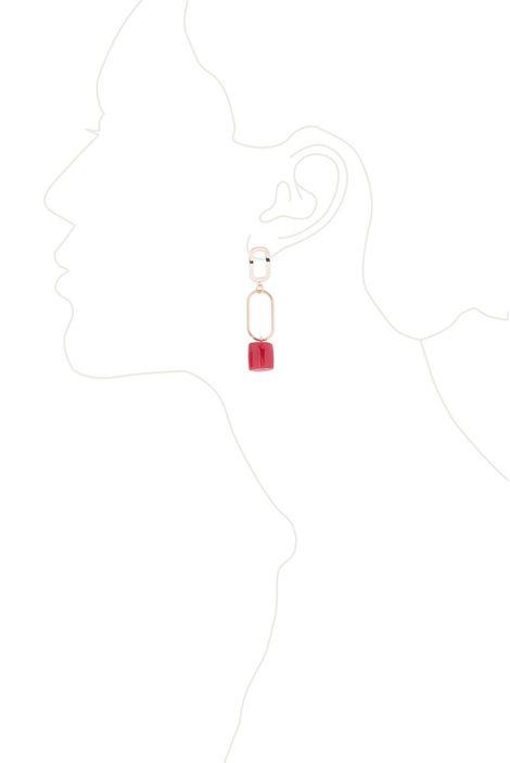 Серьги «Мегаполис» (красный, золотой)