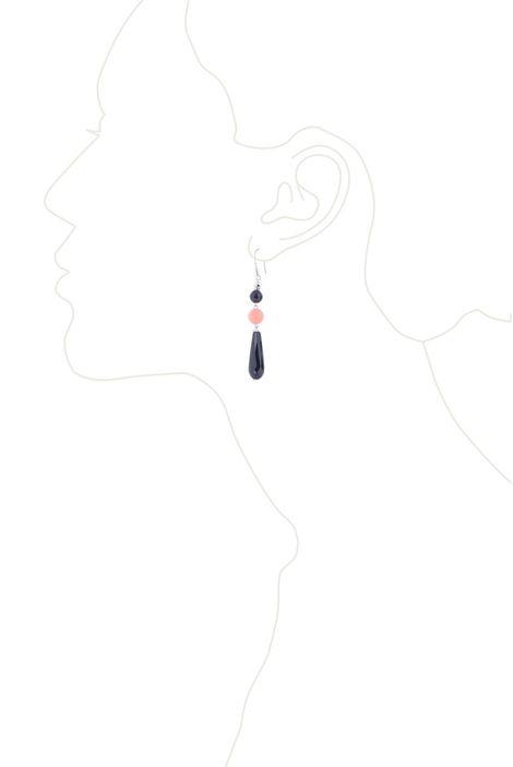 Серьги «Черный агат»